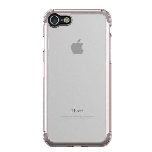 Crystal Case & Glass Screen Protection Kit - iPhone 8/7 Clear Rose Gold - Sahara Case LLC