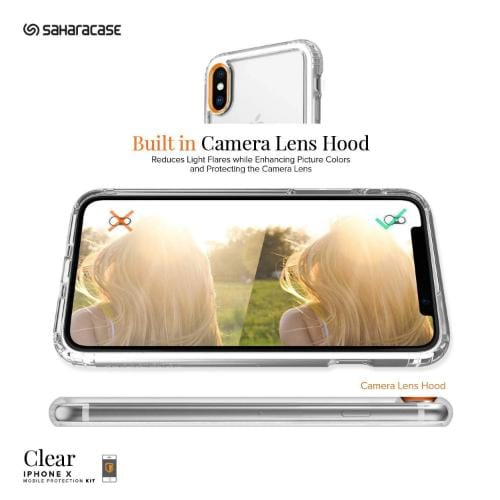 SaharaCase - Crystal Series Case - Apple iPhone X/XS - Clear - Sahara Case LLC