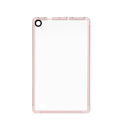 Crystal Case & Glass Screen Protection Kit - Kindle Fire HD 8 Clear Rose Gold - Sahara Case LLC