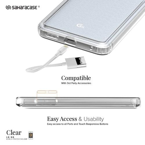 SaharaCase Crystal Series Case - for LG G6 Clear - Sahara Case LLC