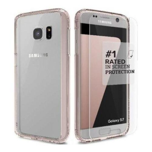 Crystal Case - Samsung Galaxy S7 Edge Rose Gold Clear - Sahara Case LLC