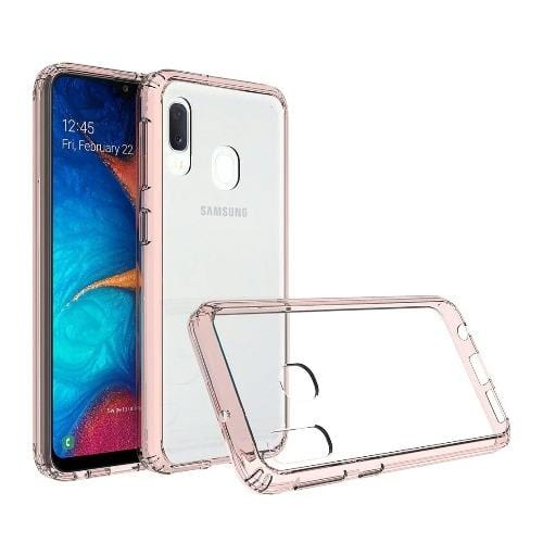 Crystal Series Case Samsung Galaxy A20 Clear Rose Gold - Sahara Case LLC