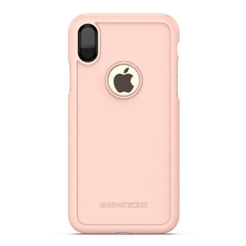 dBulk Case & Glass Screen Protection Kit - iPhone X/XS Desert Rose Gold - Sahara Case LLC