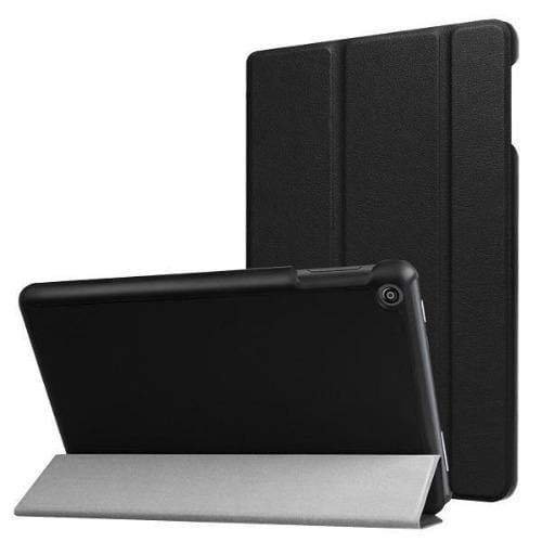 Folio Case - Amazon Kindle Fire HD 8 (2017/2018) - Black - Sahara Case LLC