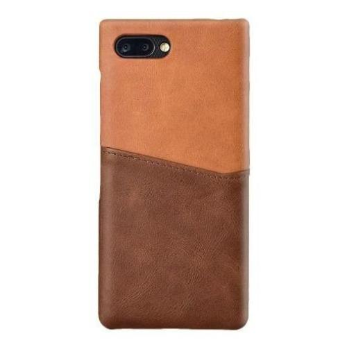 Genuine Leather Case - Blackberry Key2/Key2 LE Spider Brown - Sahara Case LLC