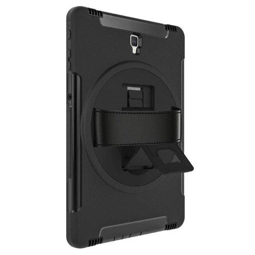"Samsung Tab S4 10.5"" Case with Built-In Screen Protector in Scorpion Black - Heavy Duty Series - Sahara Case LLC"