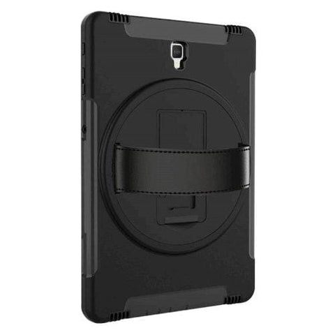 "Samsung Tab S4 10.5"" Case with Built-In Screen Protector in Scorpion Black - Heavy Duty Series"