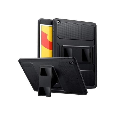 SaharaCase - Heavy Duty Series Case with built-in Screen Protector - iPad 10.2 Case - Scorpion Black