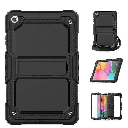 Heavy Duty Protection Case - Samsung Tab A 10.1 (2019) Scorpion Black - Sahara Case LLC