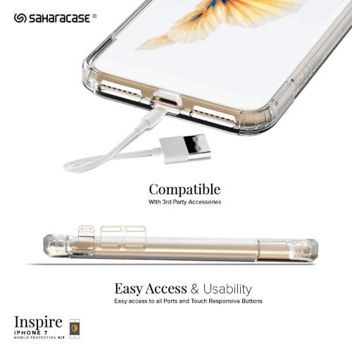 Inspire Case & Glass Screen Protection Kit - iPhone 8/7 Clear - Sahara Case LLC