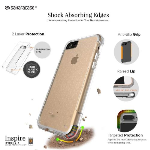 SaharaCase - Inspire Series Case - iPhone SE(Gen 2)/ 8/7 - Clear - Sahara Case LLC