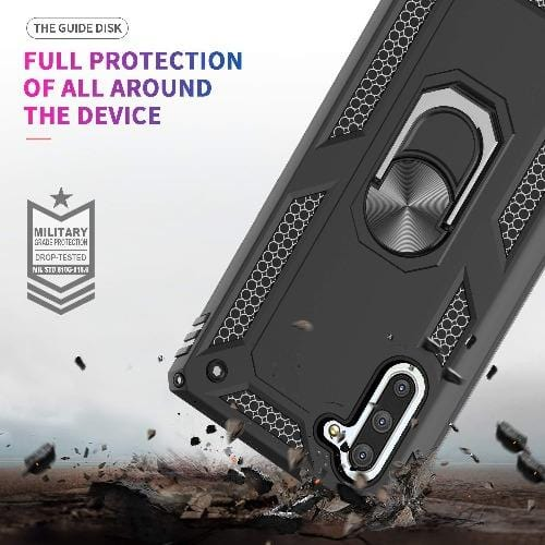 Military Series Kickstand Case Samsung Galaxy Note 10 Black - Sahara Case LLC