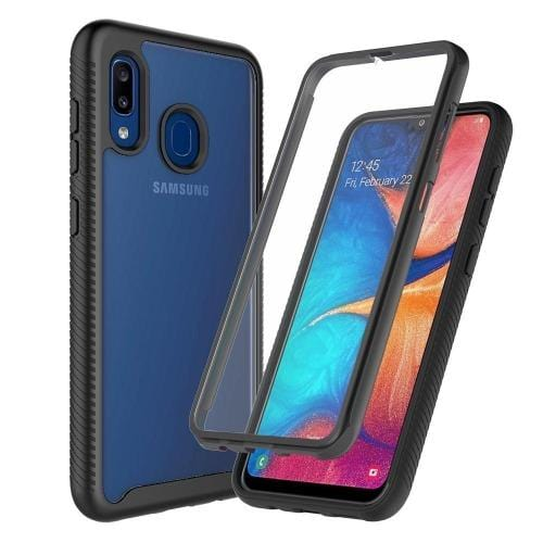 Protection Series Case Samsung Galaxy A20 Black Clear - Sahara Case LLC