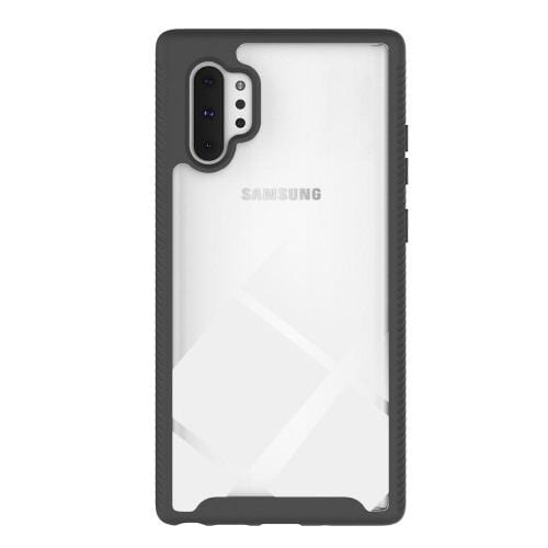 Protection Series Case with Built-in Screen Protector - Samsung Galaxy Note 10+ and Note 10+5G - Black Clear - Sahara Case LLC