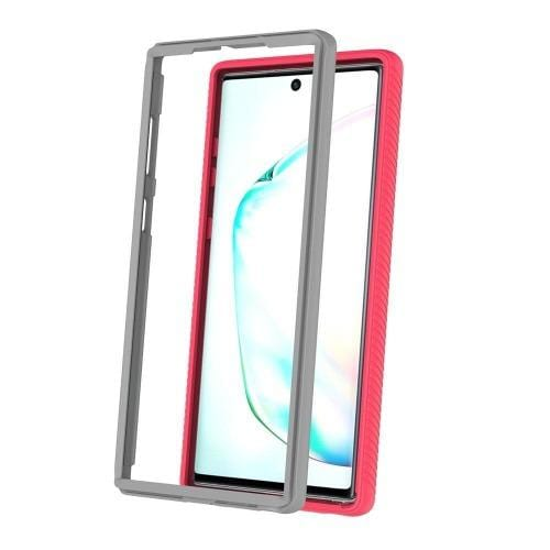 Protection Series Case with Built-in Screen Protector - Samsung Galaxy Note 10 - Rose Gold Clear - Sahara Case LLC
