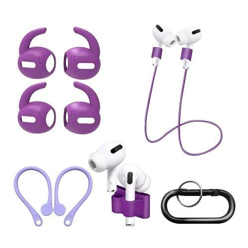 SaharaCase - Accessory Kit - for Apple AirPods Pro - Purple - Sahara Case LLC