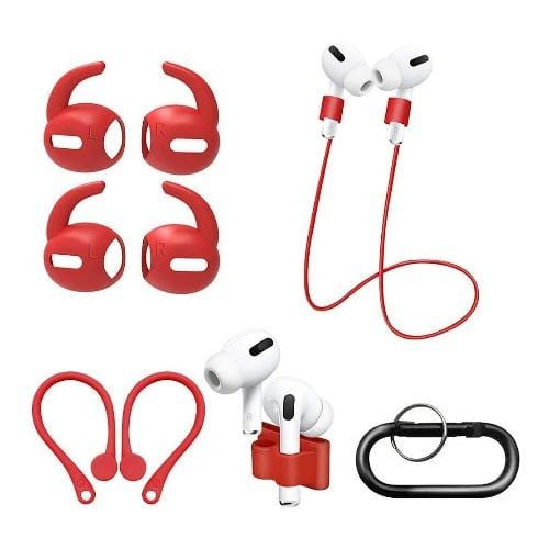 SaharaCase - Accessory Kit - for Apple AirPods Pro - Red - Sahara Case LLC