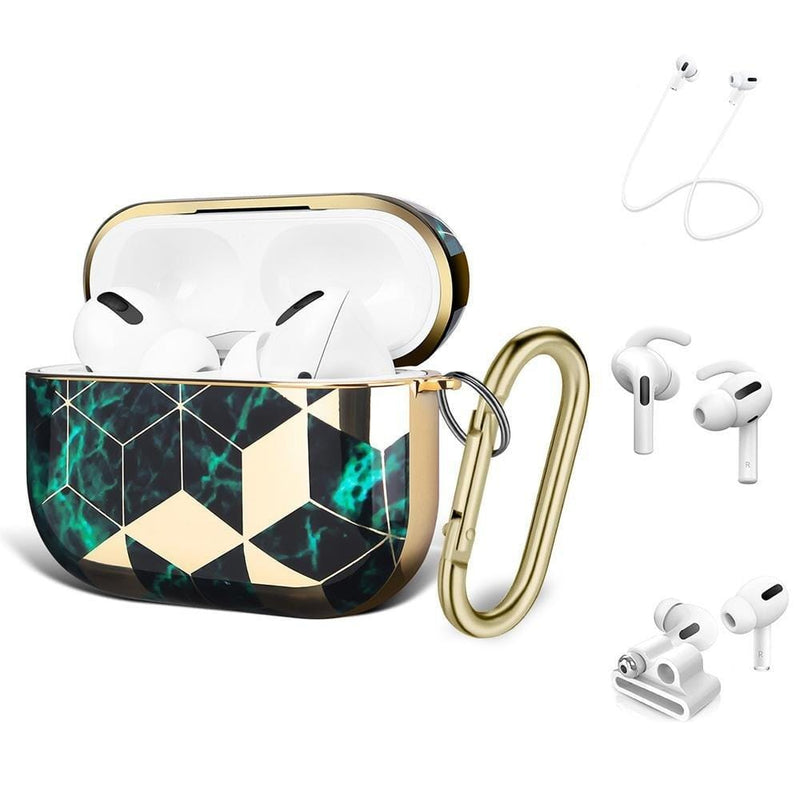 SaharaCase - Apple AirPods Pro - Luxury Case and Kit - Green - Sahara Case LLC