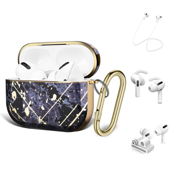 SaharaCase - Apple AirPods Pro - Luxury Case and Kit - Purple - Sahara Case LLC