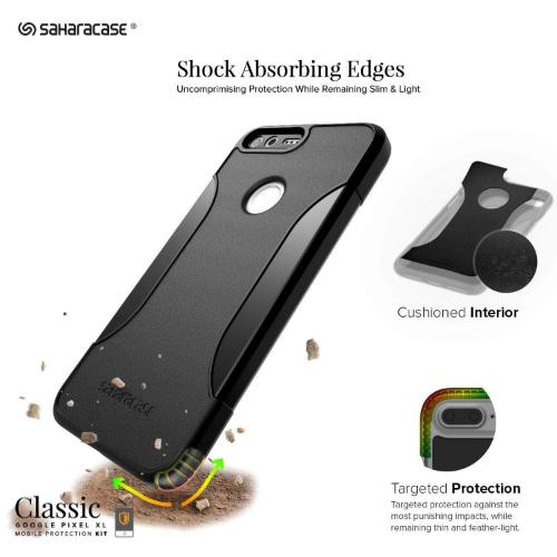 SaharaCase Classic Case & Glass Screen Protection Kit - Google Pixel XL Black - Sahara Case LLC