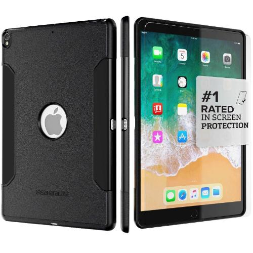 "SaharaCase Classic Case & Glass Screen Protection Kit - iPad Pro 10.5"" (2017) Scorpion Black - Sahara Case LLC"
