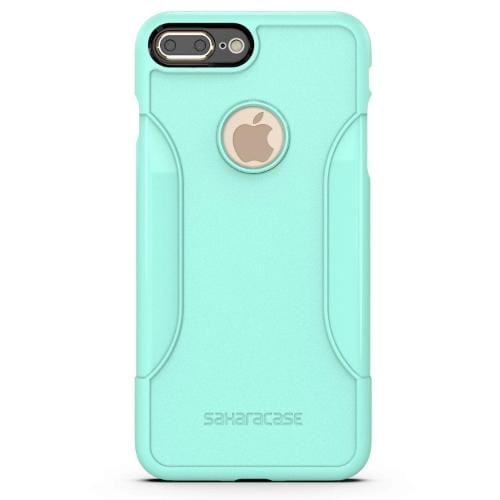 SaharaCase Classic Case & Glass Screen Protection Kit - iPhone 8/7 Plus Aqua - Sahara Case LLC