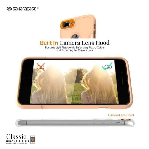 SaharaCase - Classic Series Case - iPhone 8/7 Plus - Sunset Peach - Sahara Case LLC