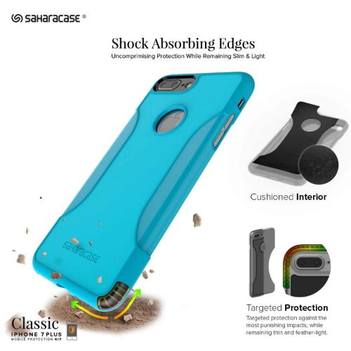SaharaCase - Classic Series Case - iPhone 8/7 Plus - Oasis Teal - Sahara Case LLC