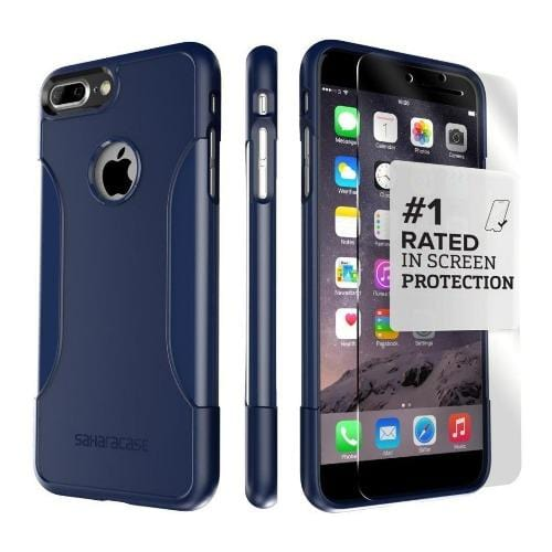 SaharaCase - Classic Series Case - iPhone 8/7 Plus - Night Sky Navy - Sahara Case LLC