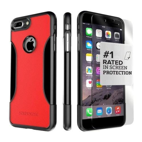 iPhone 8/7 Plus Case in Viper Red with Glass Screen Protector - Classic Series Case