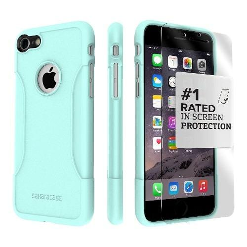 SaharaCase - Classic Series Case - iPhone SE(Gen 2)/ 8/7 - Aqua Teal - Sahara Case LLC