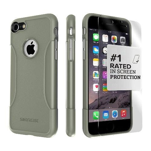 Army Green iPhone 8/7 and SE (Gen 2) Case with Glass Screen Protector - Classic Series Case