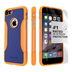 Blue and Orange iPhone 8/7 and SE (Gen 2) Case in with Glass Screen Protector - Classic Series Case