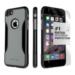 Mist Gray iPhone 8/7 and iPhone SE (Gen 2) Case with Tempered Glass Screen Protector - Classic Series Case