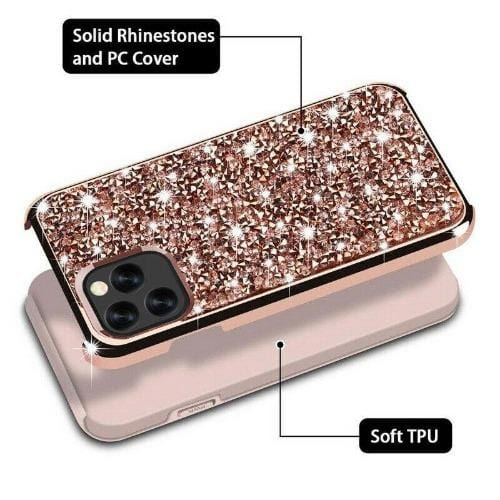 "SaharaCase Classic Sparkle Series Case iPhone 11 Pro 5.8"" - Champagne Rose Gold - Sahara Case LLC"
