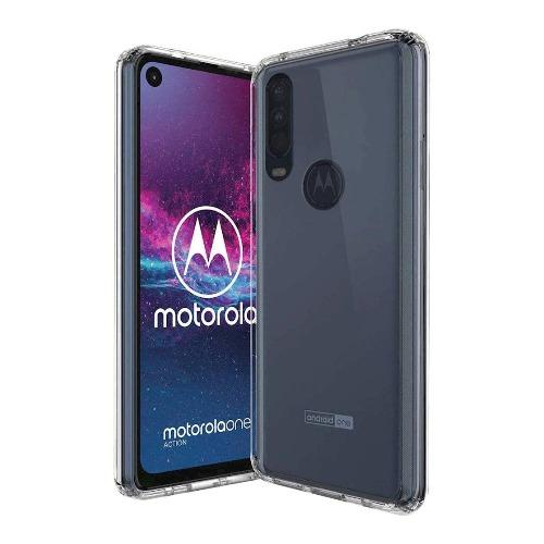 SaharaCase - Crystal Protective Series Case for Motorola One Action - Clear - Sahara Case LLC