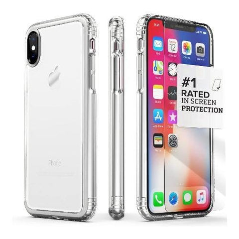 SaharaCase - OnlyCase Series Case for Apple® iPhone® X and XS - Clear Crystal