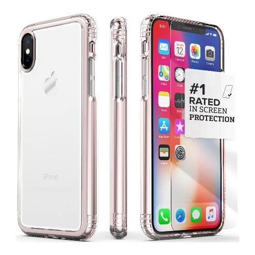 SaharaCase - Crystal Series Case - Apple iPhone X/XS - Clear Rose Gold - Sahara Case LLC