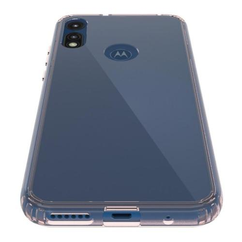 SaharaCase - Crystal Series Case - for Motorola E 2020 - Clear Rose Gold - Sahara Case LLC