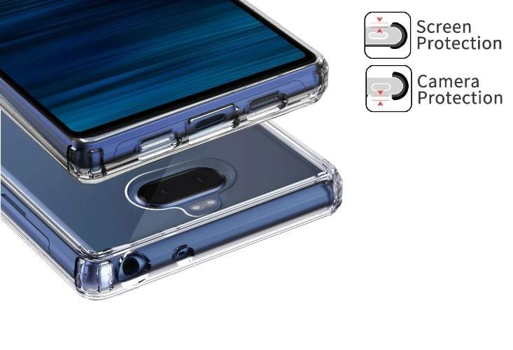 SaharaCase Crystal Series Case & Glass Screen Protector Sony Xperia 10 Plus - Clear - Sahara Case LLC