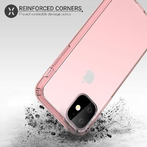 "SaharaCase Crystal Series Case iPhone 11 6.1"" - Clear Rose Gold - Sahara Case LLC"