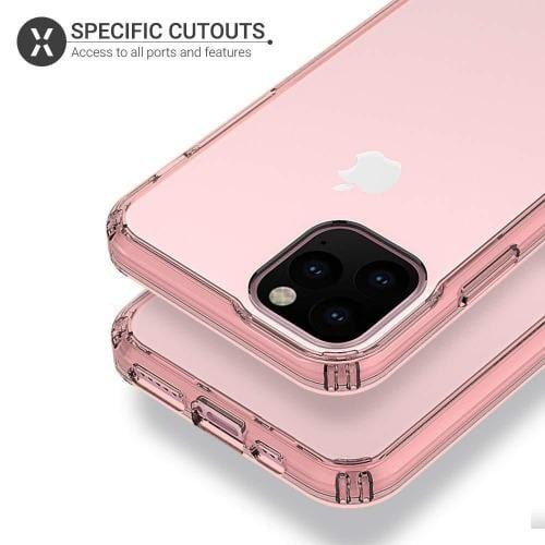 "SaharaCase - Crystal Series Case - iPhone 11 Pro Max 6.5"" - Clear Rose Gold - Sahara Case LLC"