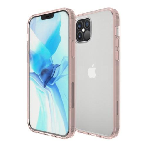 Hard Shell Series Clear Rose Gold iPhone 12 & iPhone 12 Pro Case