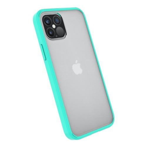 "SaharaCase - Crystal Series Case - iPhone 12 Pro Max 6.7"" - Clear Teal - Sahara Case LLC"