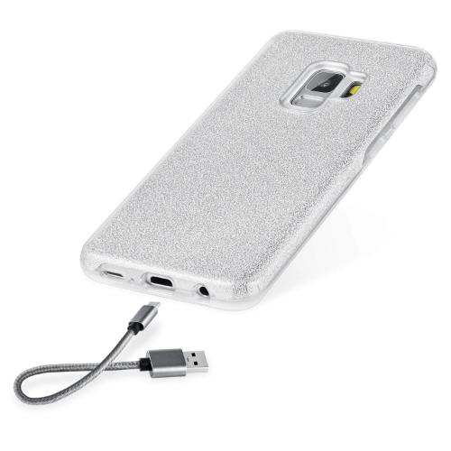 SaharaCase Crystal Series Case Only - Samsung Galaxy S9 Sparkle Silver - Sahara Case LLC