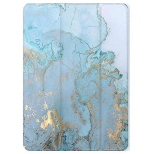 SaharaCase - Custom Design Smart Folio Case for Amazon Kindle Fire HD 10 - Blue Marble - Sahara Case LLC