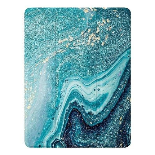 "SaharaCase - Custom Folio Series Case - iPad 10.2"" - Green Marble - Sahara Case LLC"