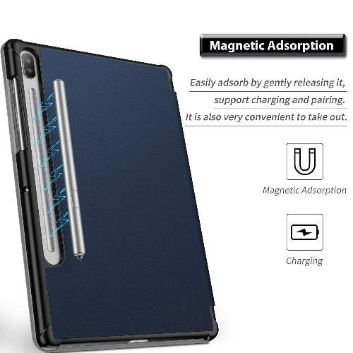 "SaharaCase - Folio Series Case - Samsung Galaxy Tab S6 10.5"" T860 - Night Sky Blue - Sahara Case LLC"