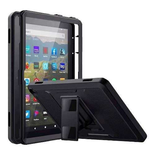 SaharaCase - Defense Protection Case - for Amazon Fire HD 8 2020 and Fire HD 8 Plus 2020 - Black - Sahara Case LLC