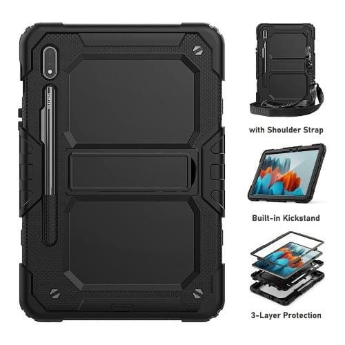 SaharaCase - Defense Protection Case for Samsung Galaxy Tab S7 - Black - Sahara Case LLC
